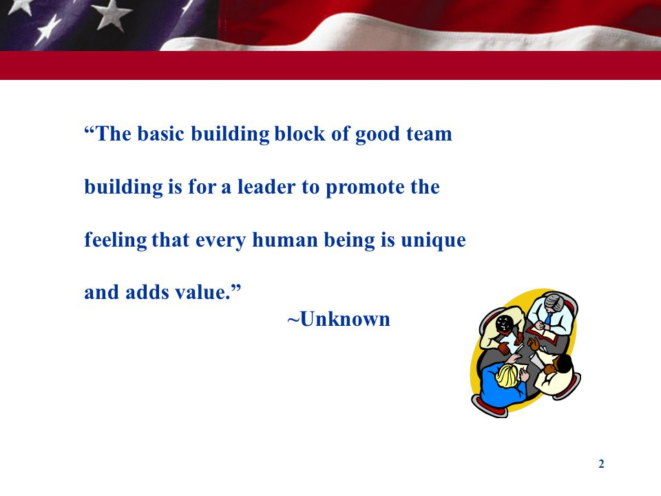 The basic building block of good team