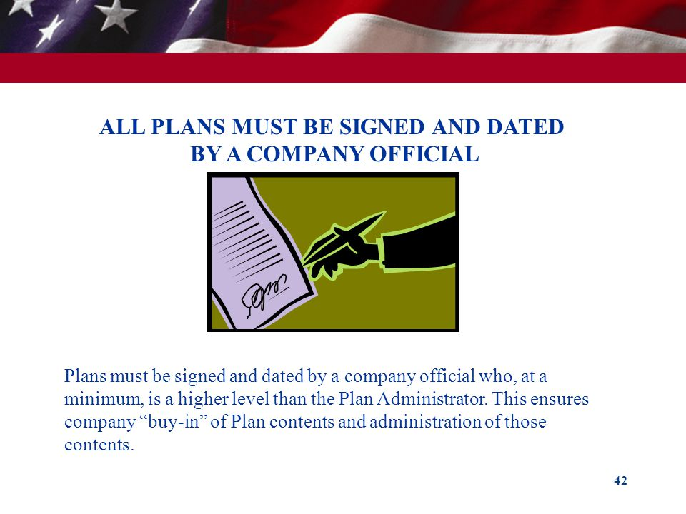 ALL PLANS MUST BE SIGNED AND DATED