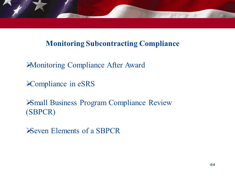 Monitoring Subcontracting Compliance