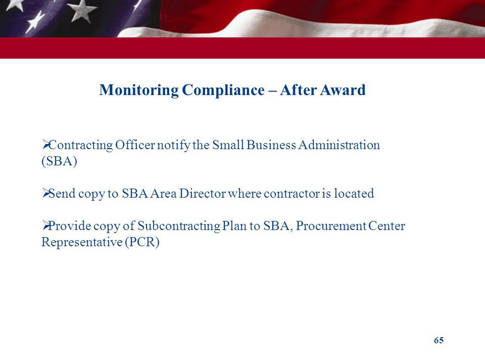 Monitoring Compliance – After Award