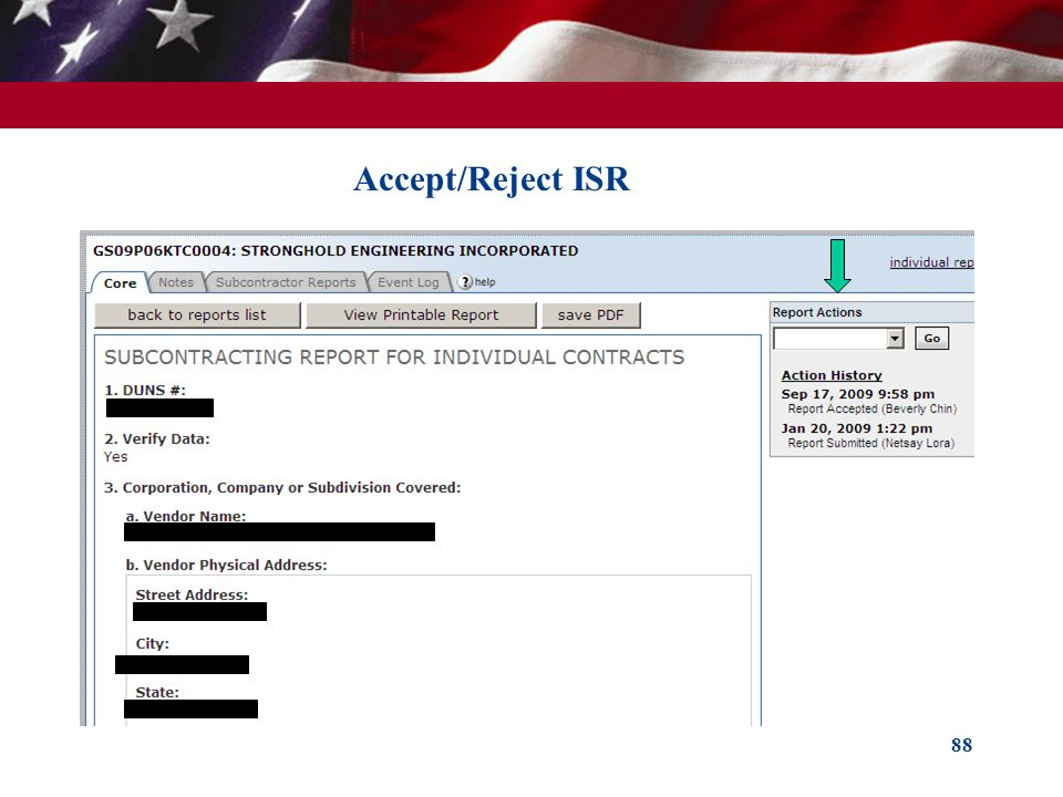 Accept/Reject ISR