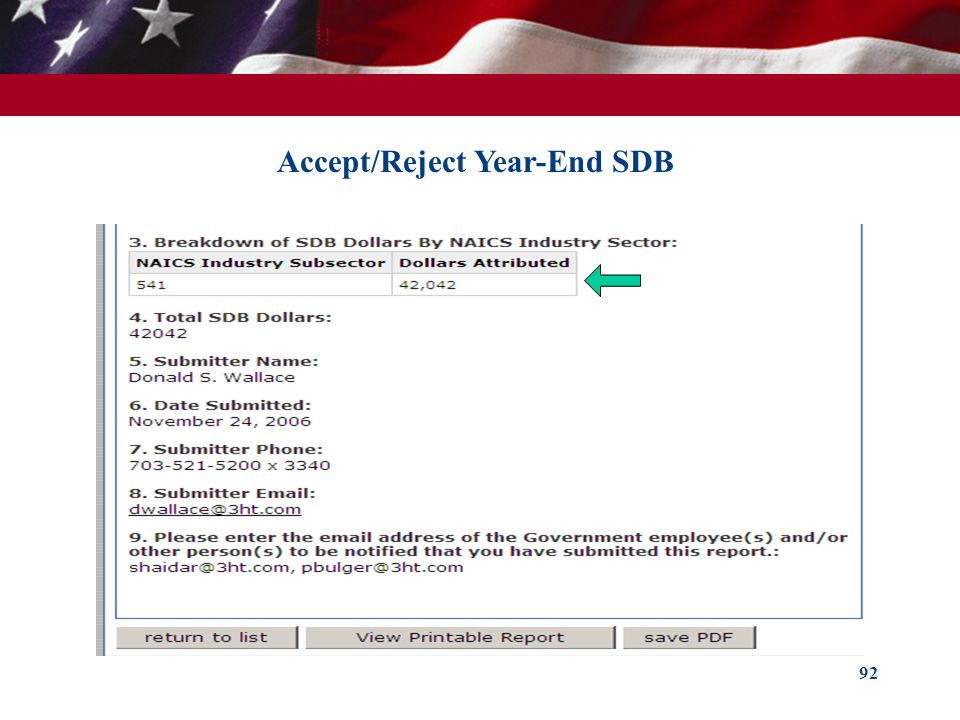 Accept/Reject Year-End SDB