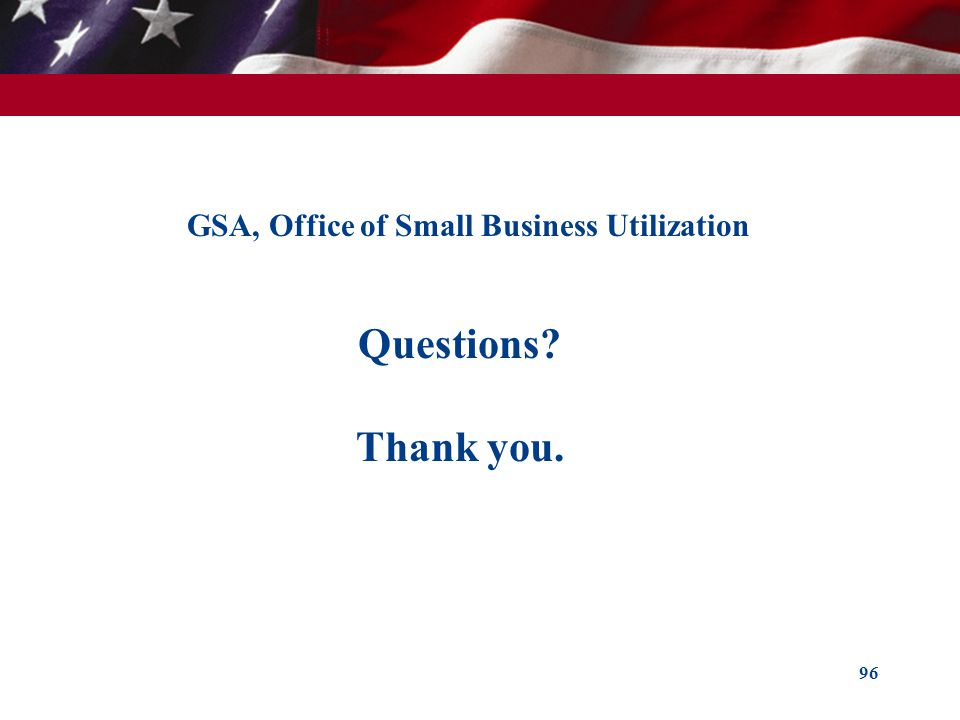 GSA, Office of Small Business Utilization