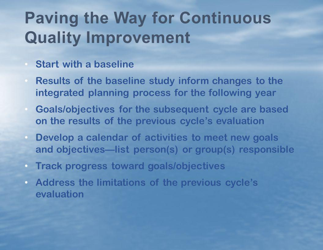 Paving the Way for Continuous Quality Improvement