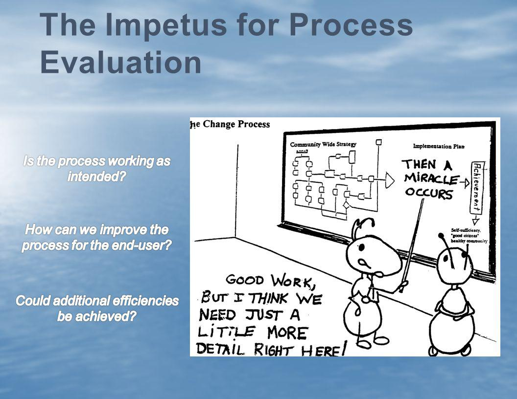 The Impetus for Process Evaluation