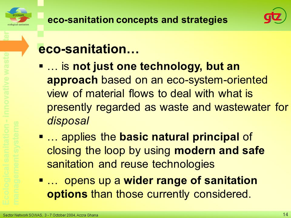 eco-sanitation concepts and strategies