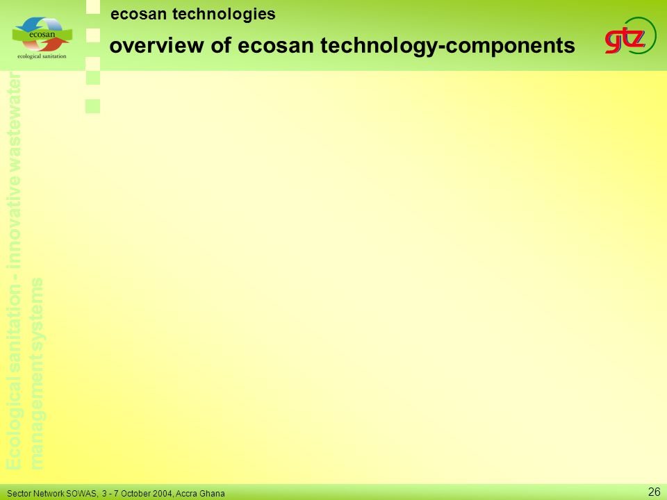 overview of ecosan technology-components