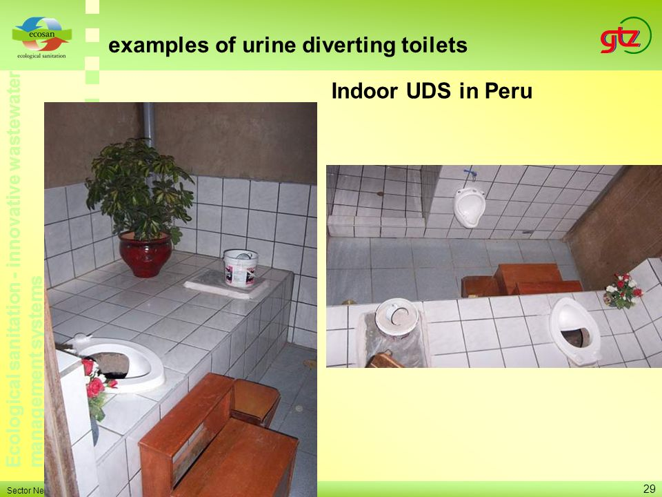examples of urine diverting toilets