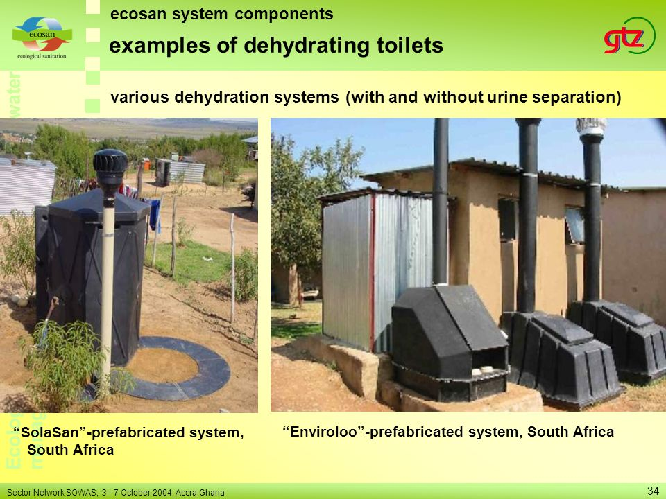 examples of dehydrating toilets