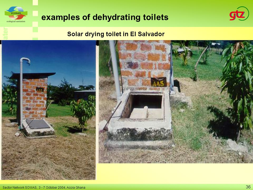 Solar drying toilet in El Salvador