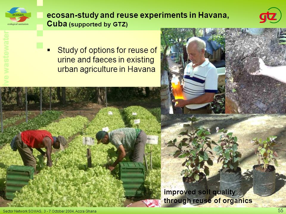 ecosan-study and reuse experiments in Havana, Cuba (supported by GTZ)