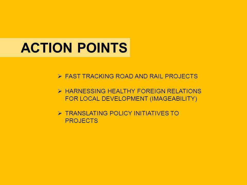 ACTION POINTS FAST TRACKING ROAD AND RAIL PROJECTS