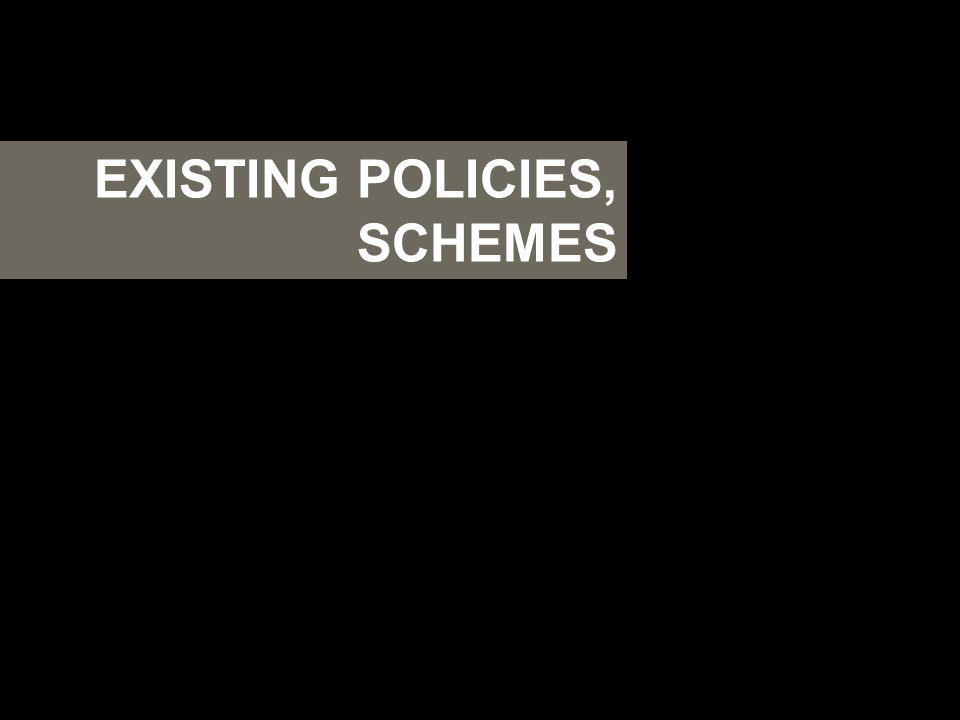 EXISTING POLICIES, SCHEMES