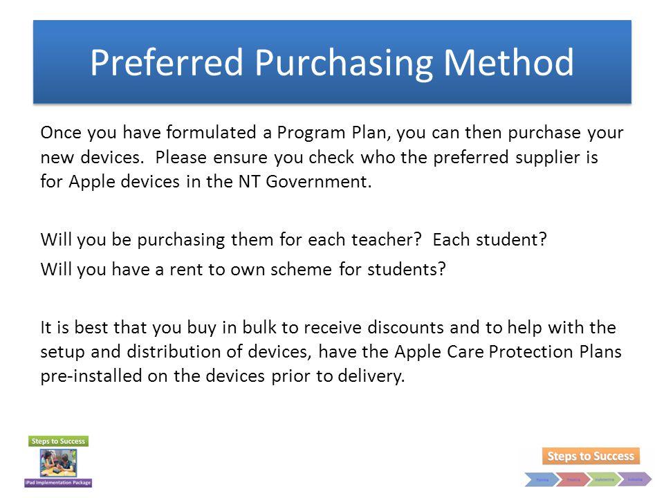 Preferred Purchasing Method
