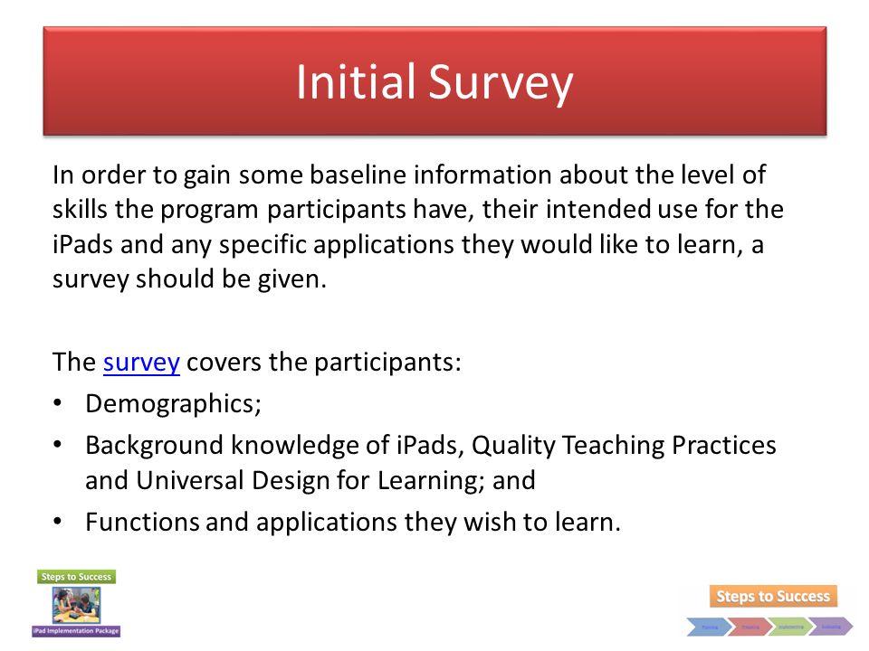 Initial Survey