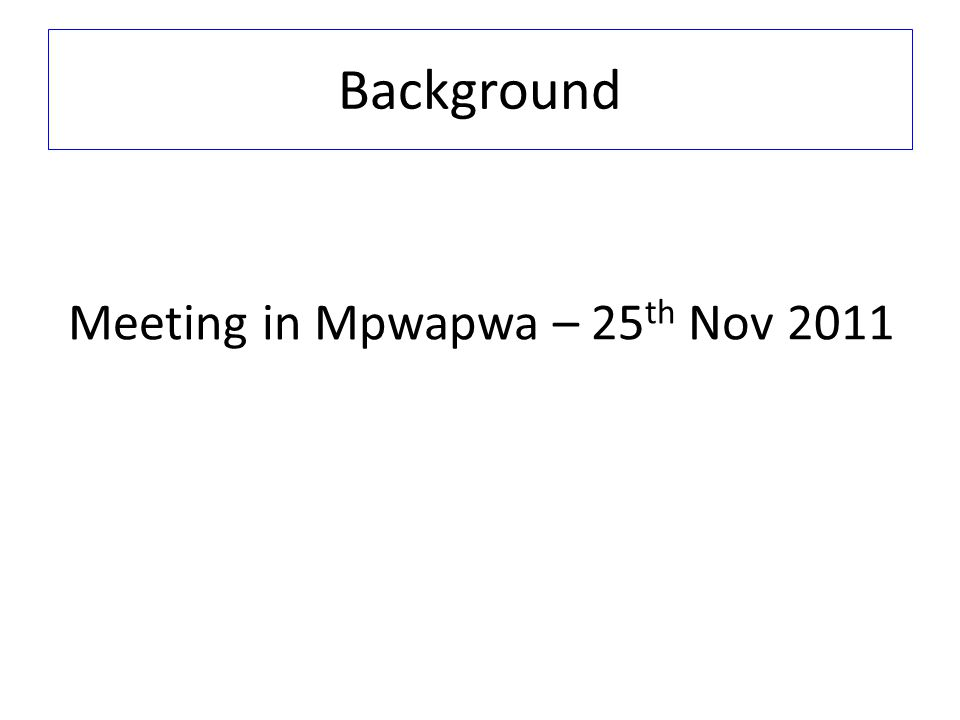 Meeting in Mpwapwa – 25th Nov 2011