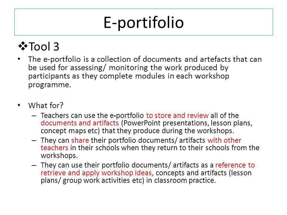 E-portifolio Tool 3.