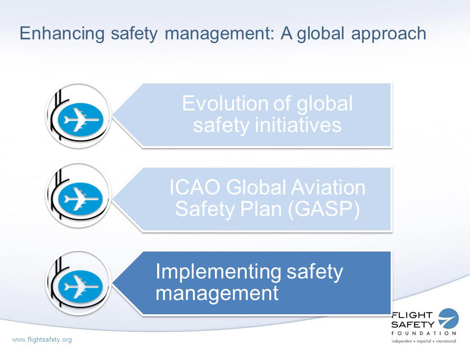 Enhancing safety management: A global approach