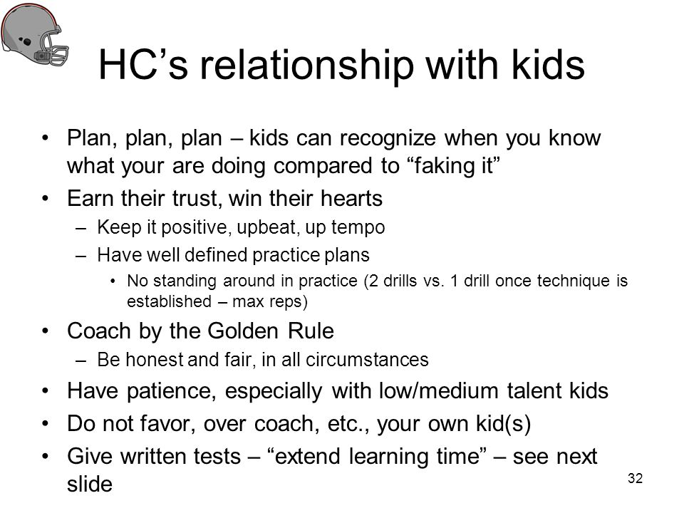 HC's relationship with kids
