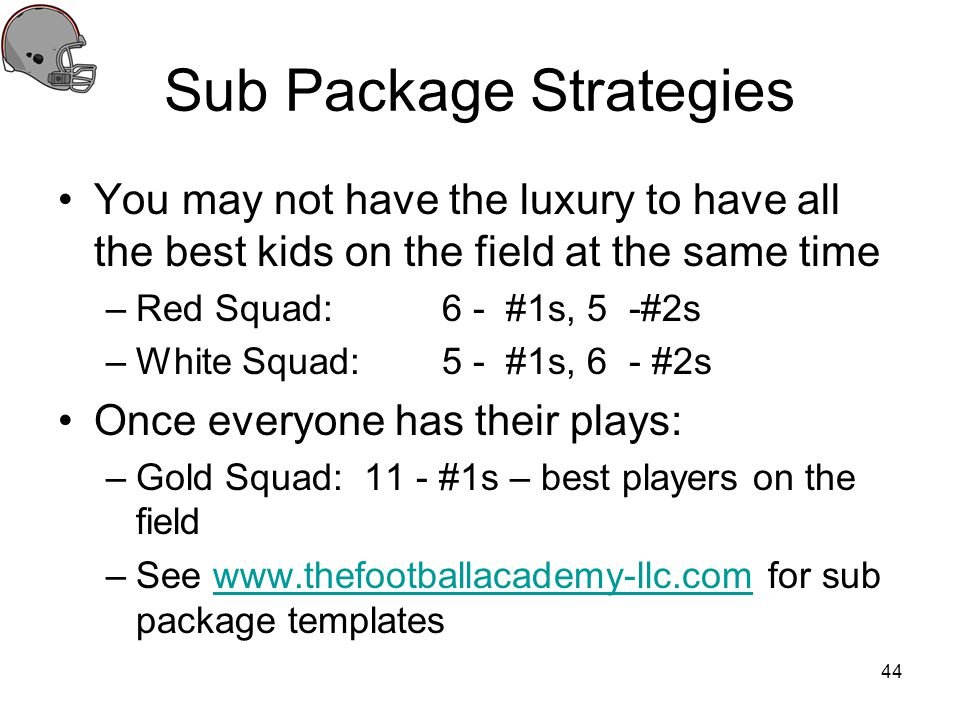 Sub Package Strategies