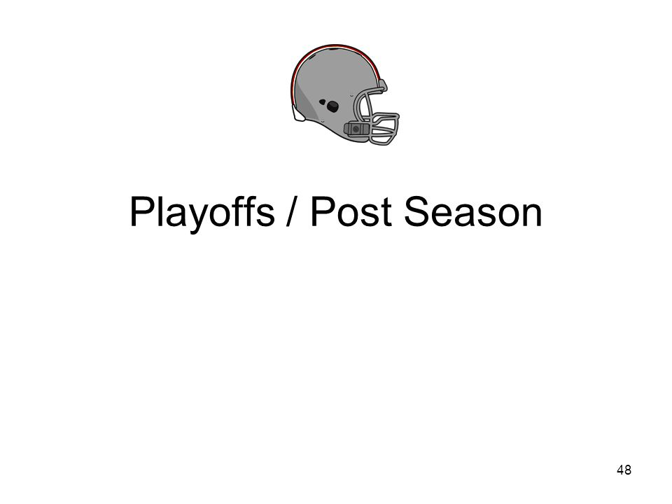 Playoffs / Post Season