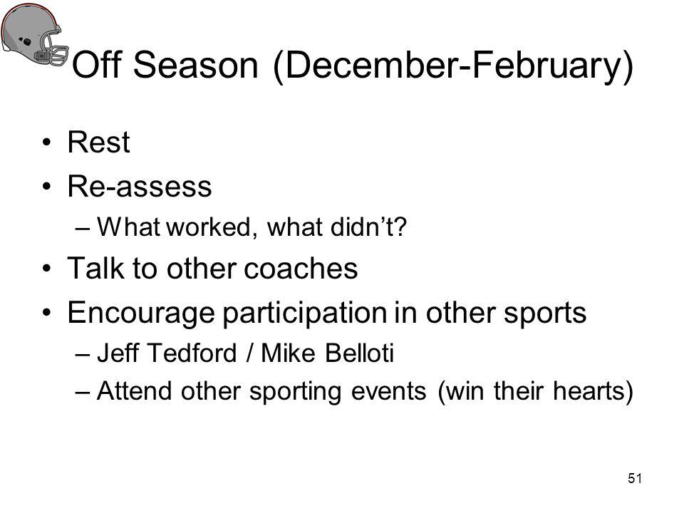 Off Season (December-February)