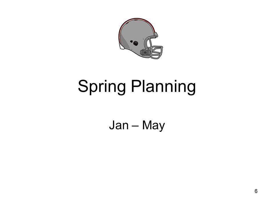 Spring Planning Jan – May