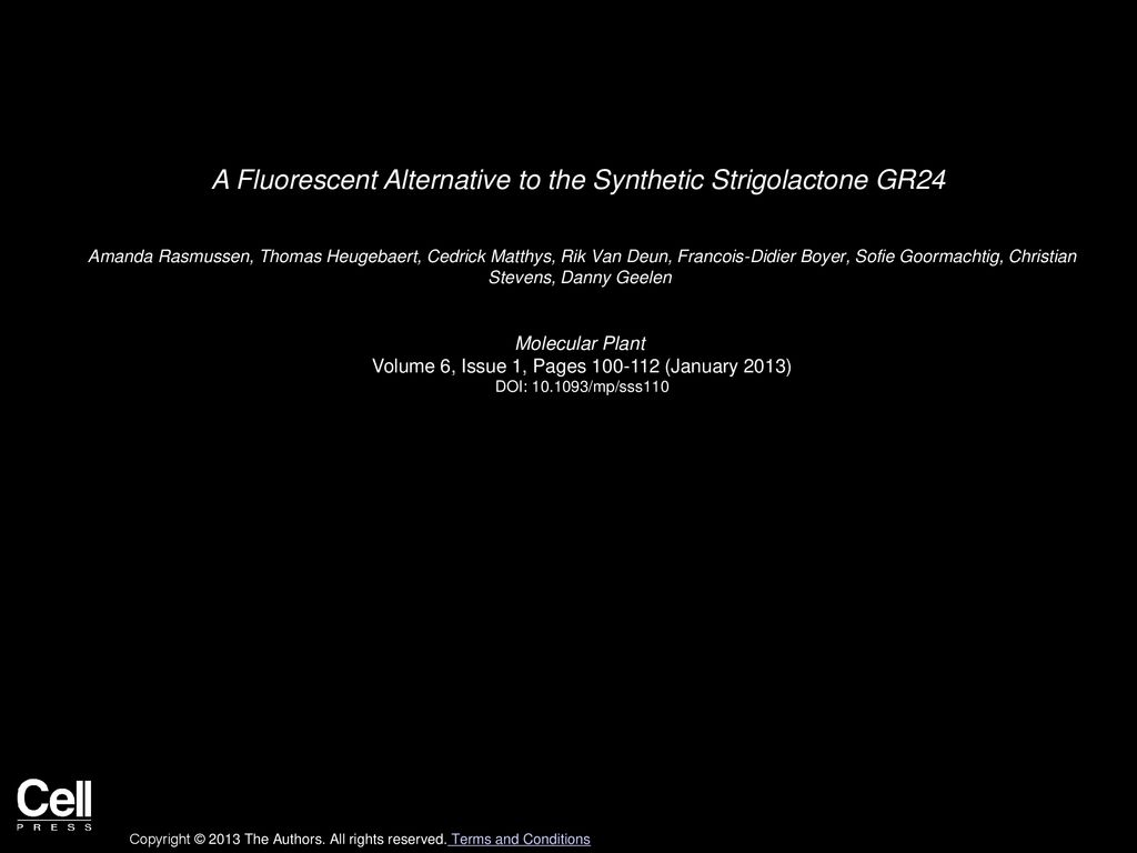 watch 67184 010be A Fluorescent Alternative to the Synthetic Strigolactone ...