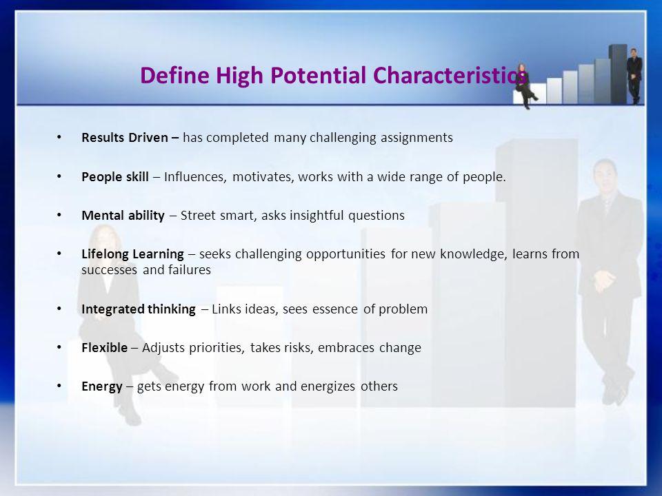 Define High Potential Characteristics