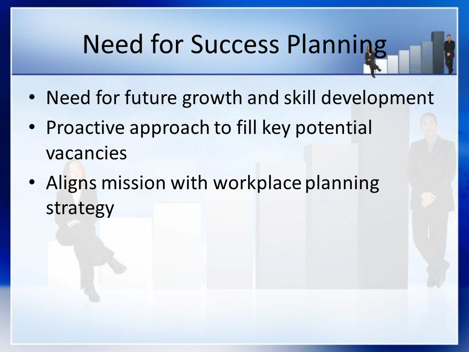 Need for Success Planning