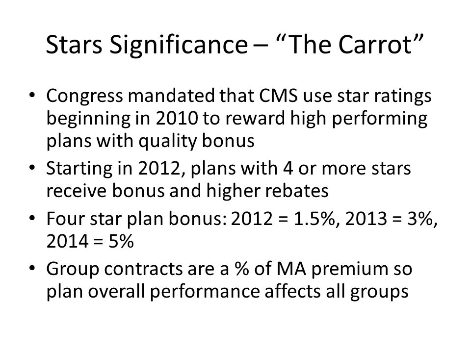 Stars Significance – The Carrot
