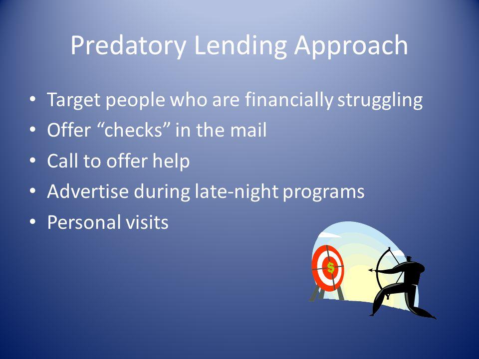 Predatory Lending Approach
