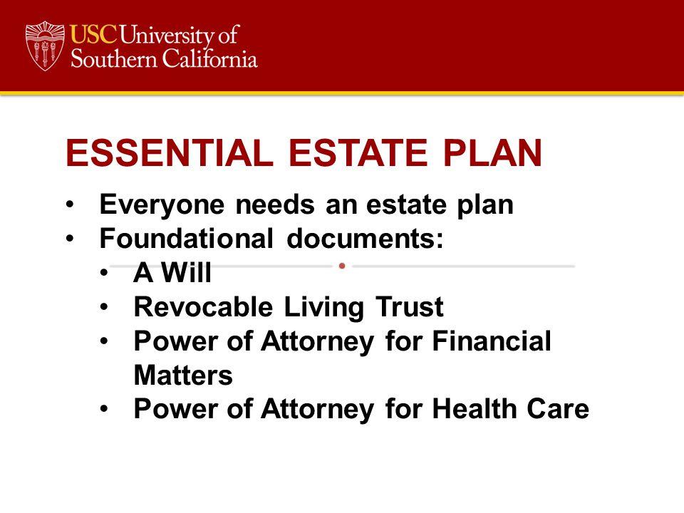 ESSENTIAL ESTATE PLAN Everyone needs an estate plan