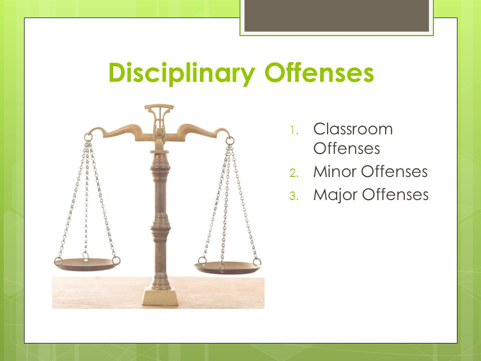 Disciplinary Offenses