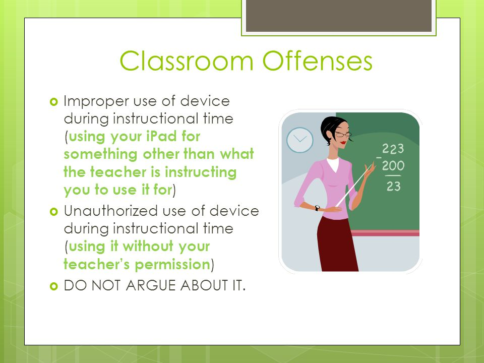 Classroom Offenses