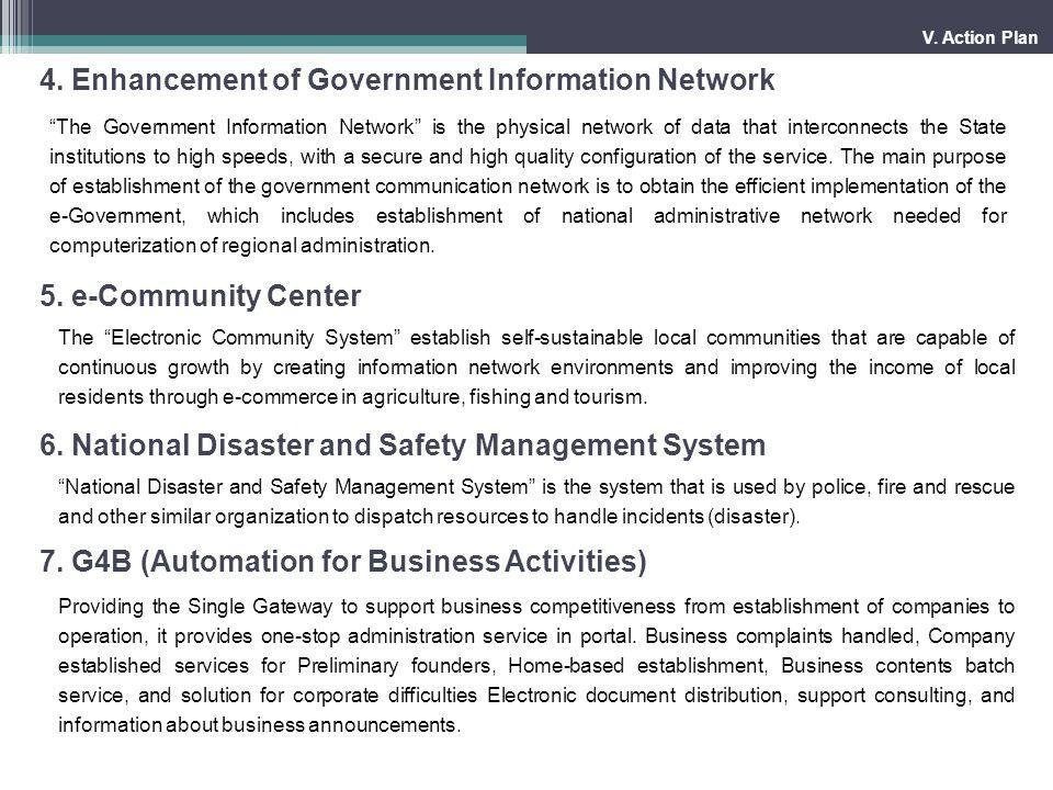 4. Enhancement of Government Information Network