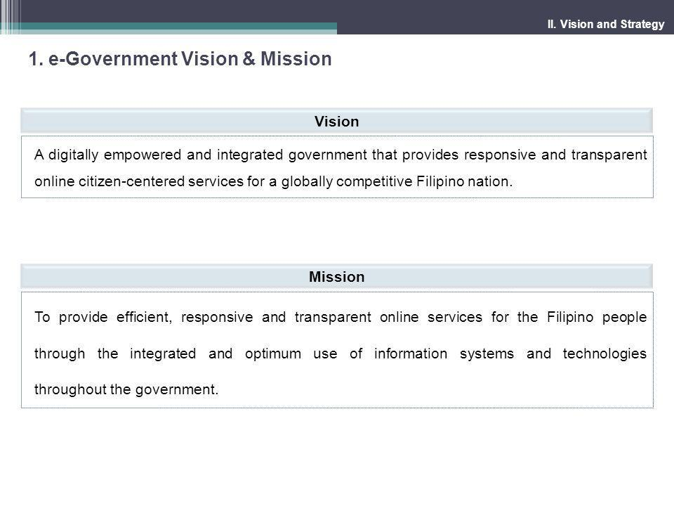 1. e-Government Vision & Mission
