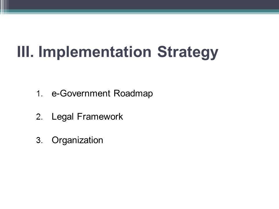 III. Implementation Strategy
