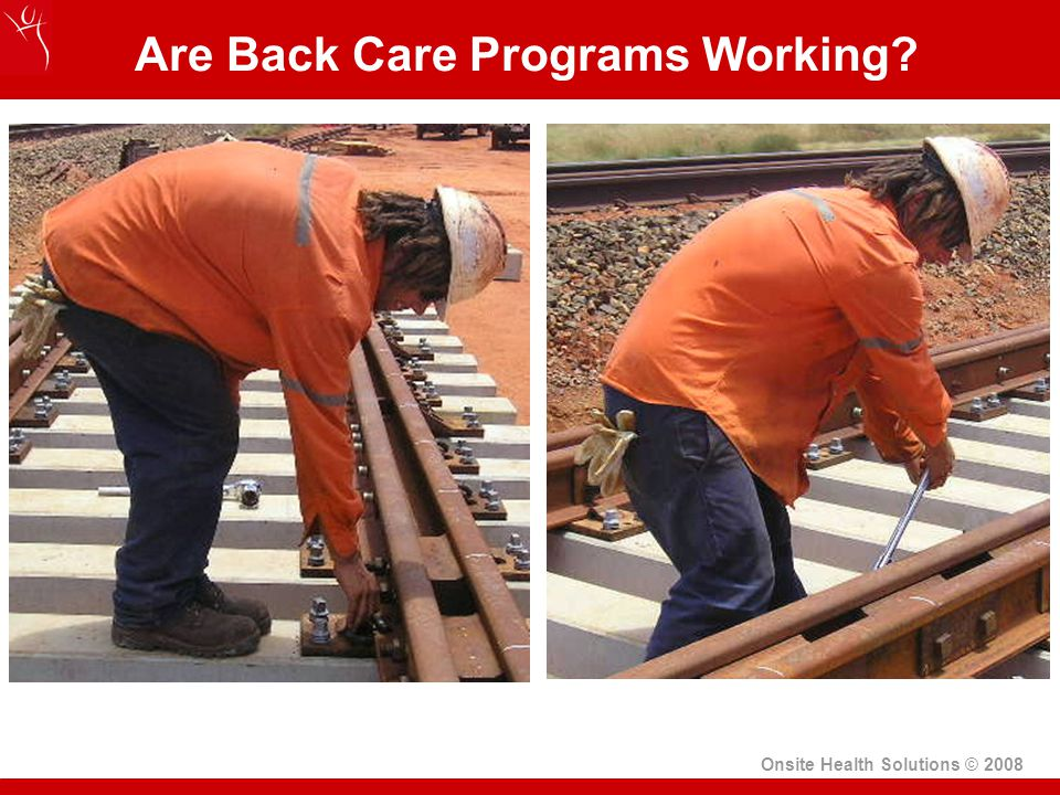 Are Back Care Programs Working Onsite Health Solutions © 2008