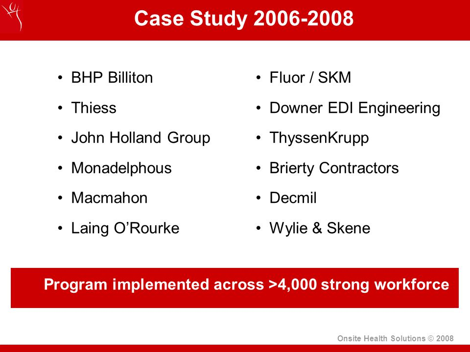 Case Study 2006-2008 BHP Billiton Thiess John Holland Group