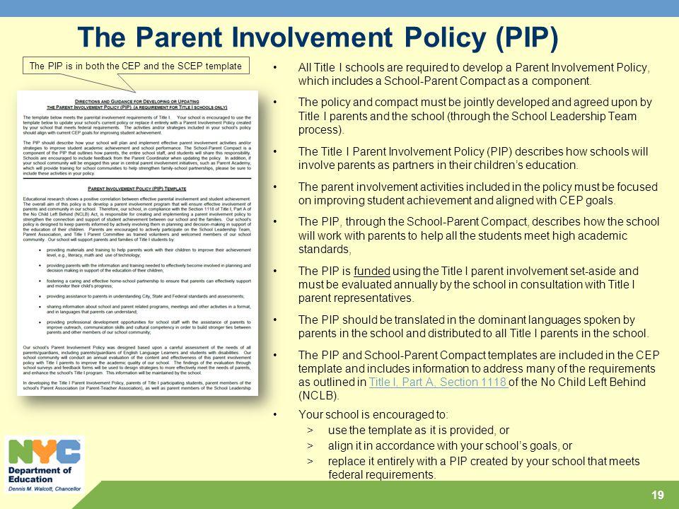parental involvement in education