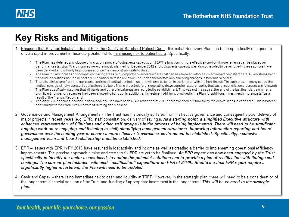 Key Risks and Mitigations