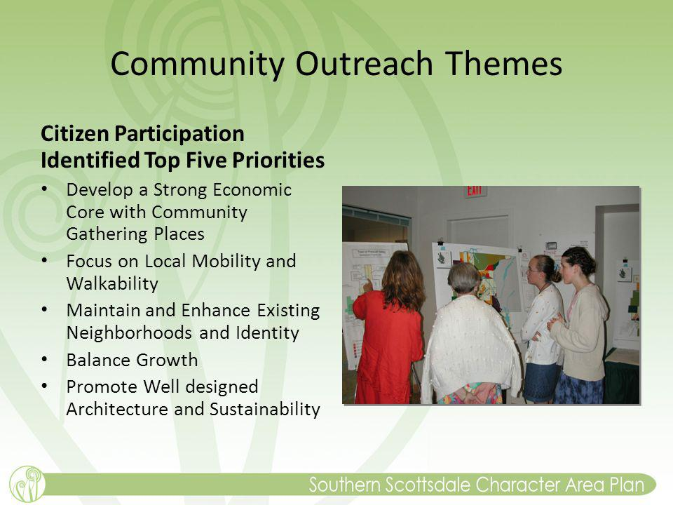 Community Outreach Themes