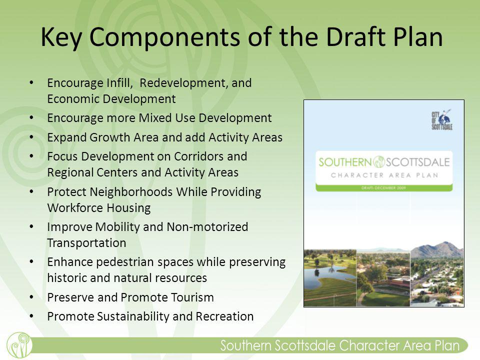 Key Components of the Draft Plan