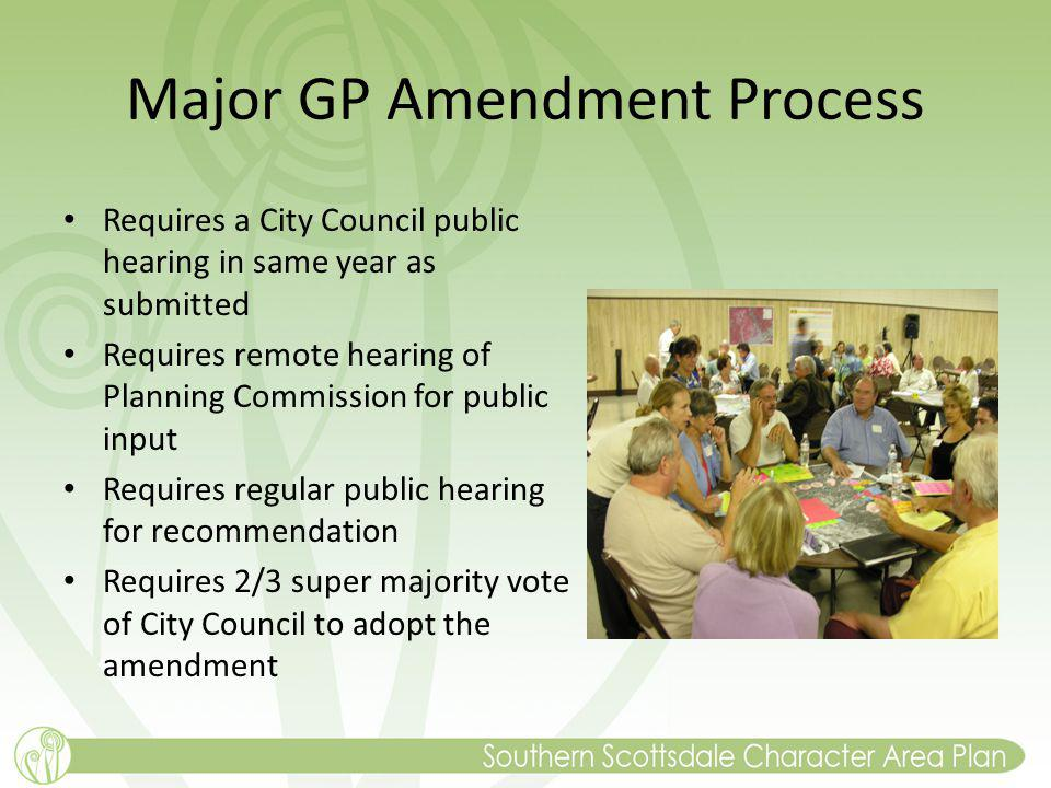 Major GP Amendment Process