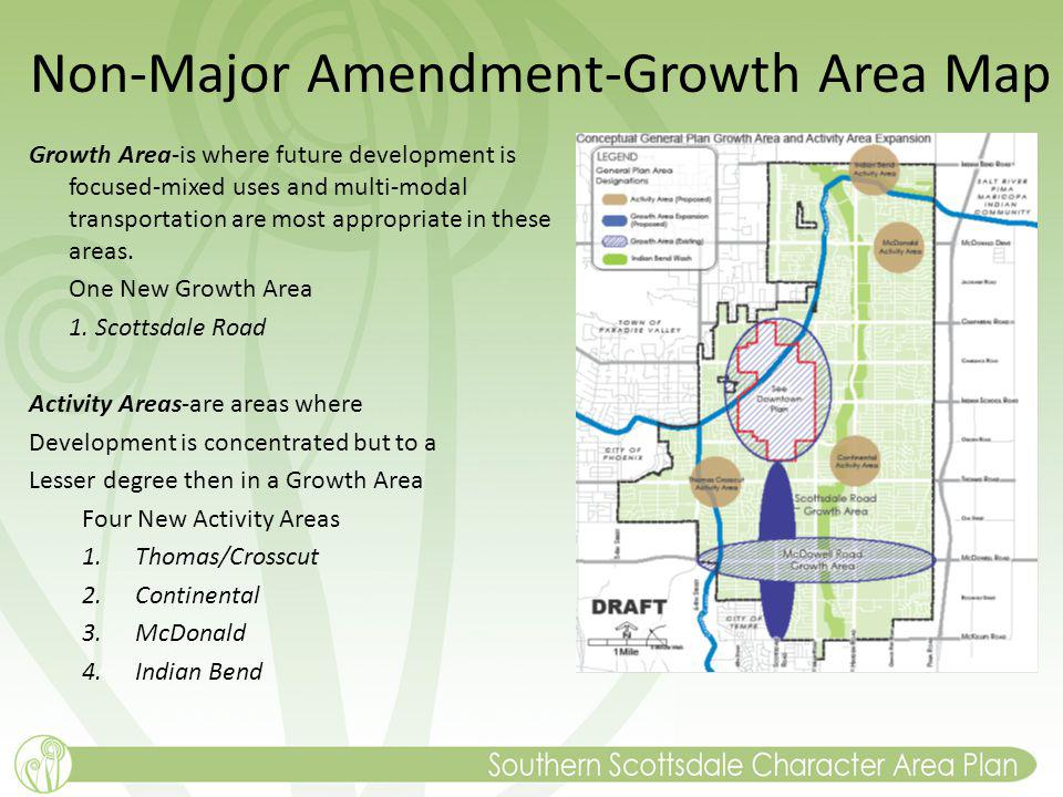 Non-Major Amendment-Growth Area Map