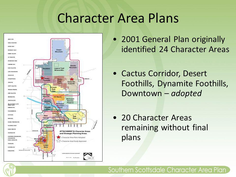 Character Area Plans 2001 General Plan originally identified 24 Character Areas.