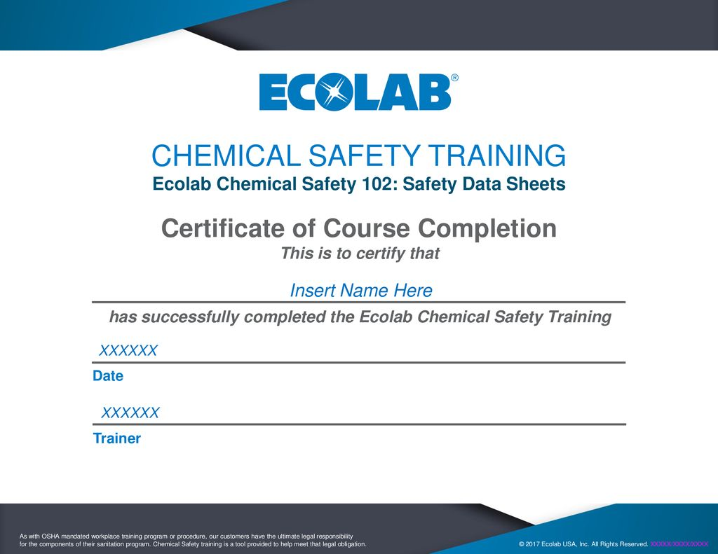 Chemical Safety Training Ppt Download