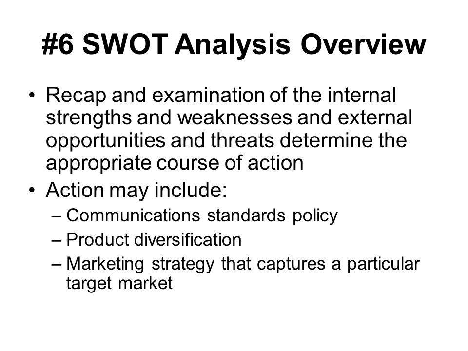 #6 SWOT Analysis Overview