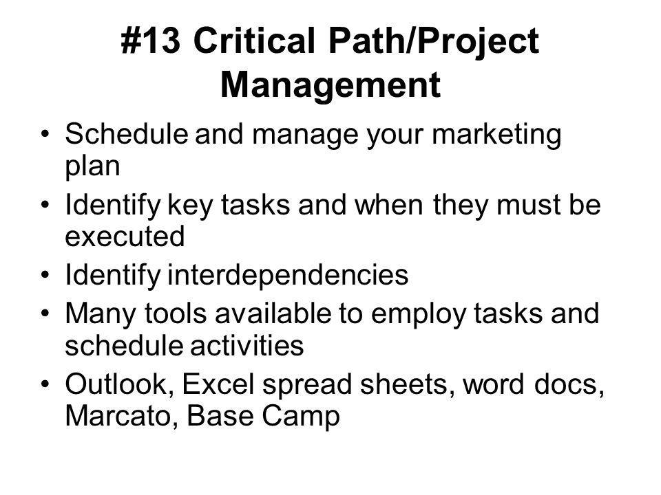#13 Critical Path/Project Management